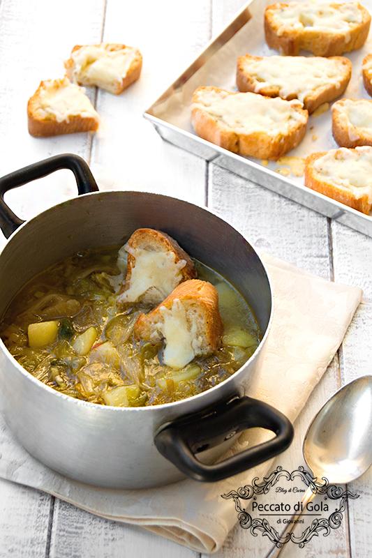 ricetta zuppa di scarole e patate, peccato di gola di giovanni 2