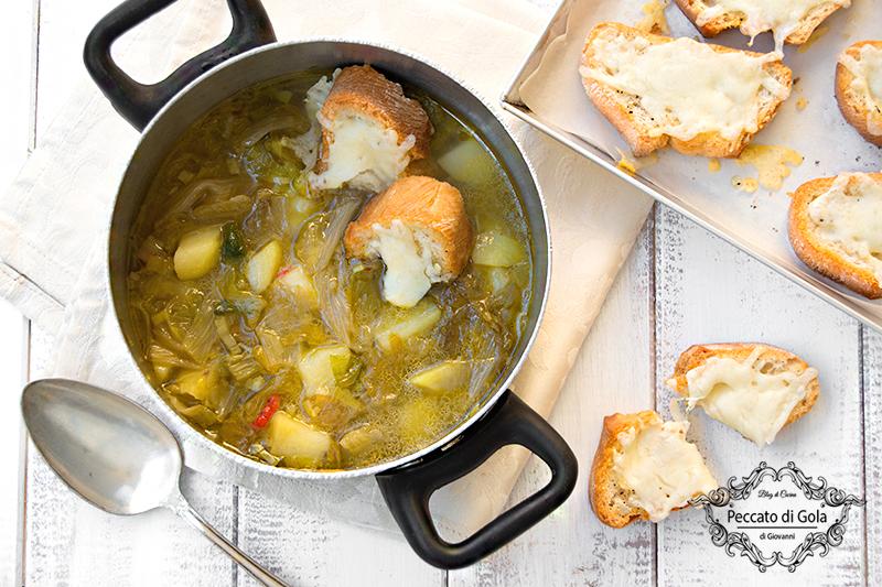 ricetta zuppa di scarole e patate, peccato di gola di giovanni