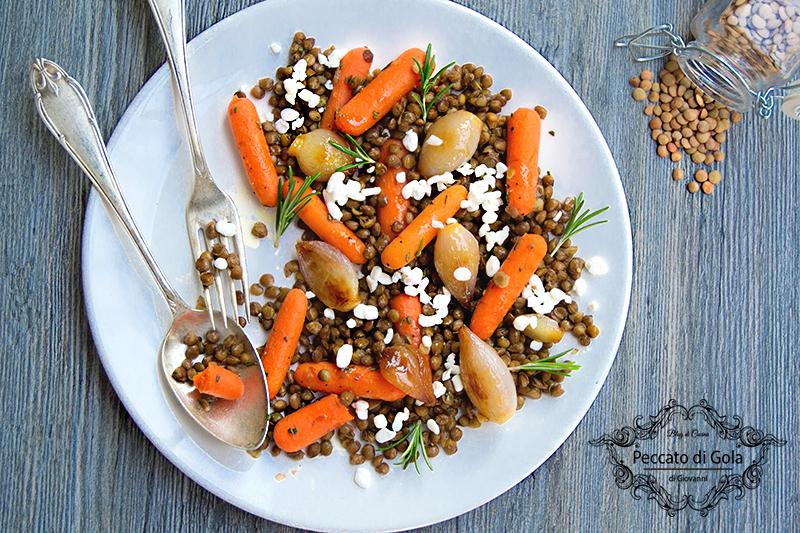 ricetta insalata di lenticchie, peccato di gola di giovanni