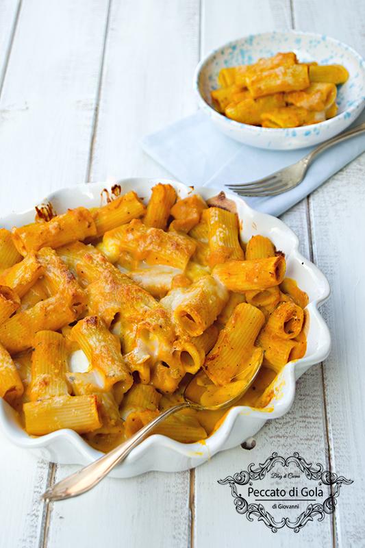 ricetta pasta alla zucca gratinata al forno, peccato di gola di giovanni 2