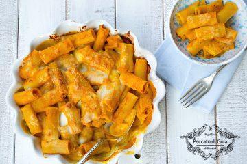 ricetta pasta alla zucca gratinata al forno, peccato di gola di giovanni