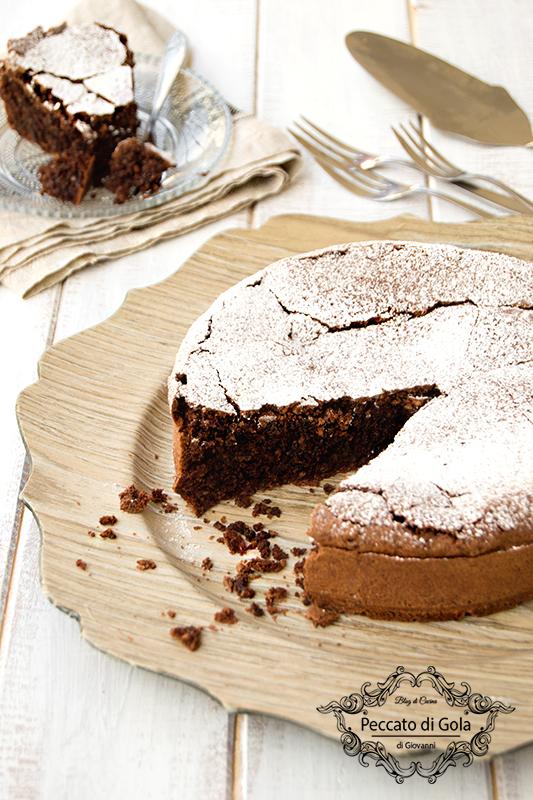 ricetta torta caprese senza burro, peccato di gola di giovanni 2