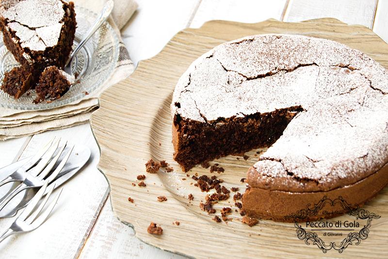 ricetta torta caprese senza burro, peccato di gola di giovanni