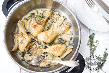 ricetta fusi di pollo con panna e senape, peccato di gola di giovanni