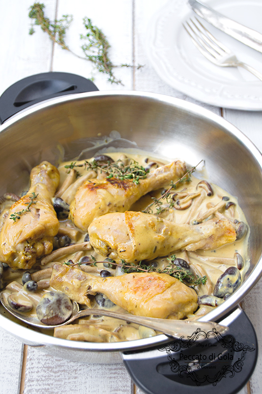 ricetta fusi di pollo con panna e senape, peccato di gola di giovanni 2