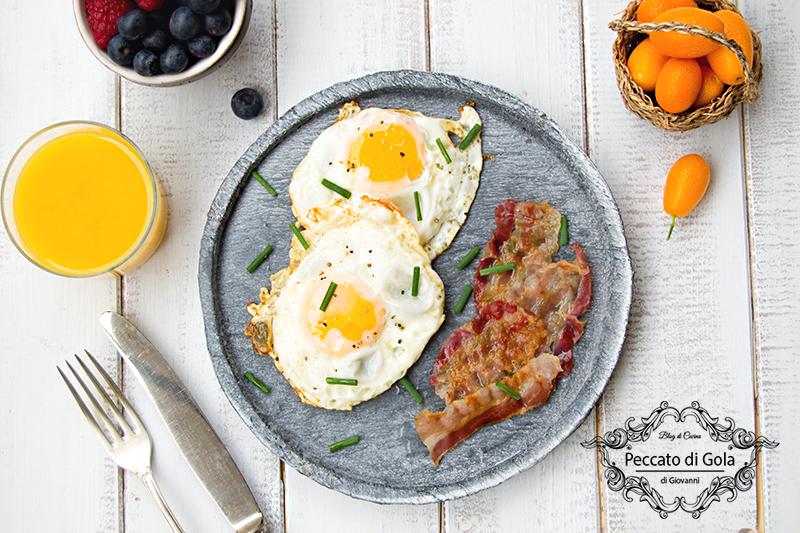 ricetta uova e bacon, peccato di gola di giovanni