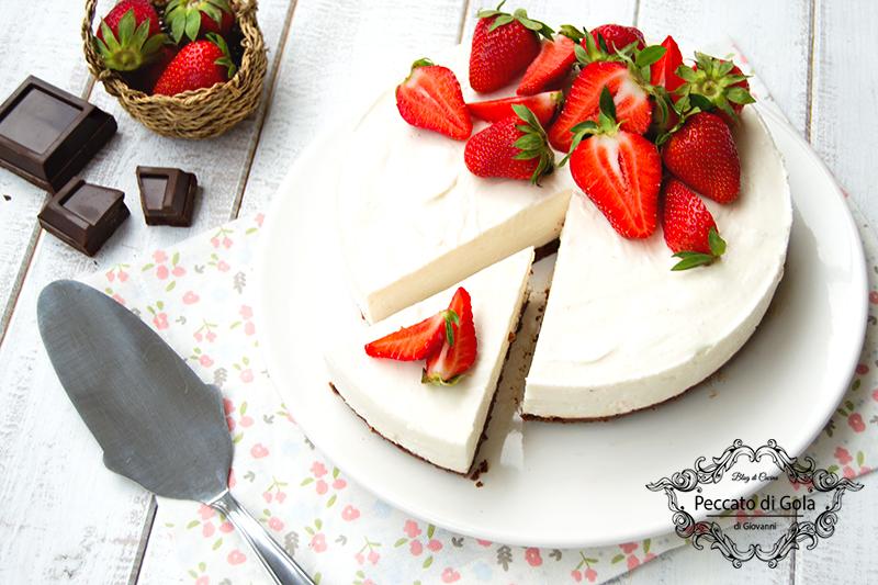 ricetta cheesecake fragole e cioccolato, peccato di gola di giovanni