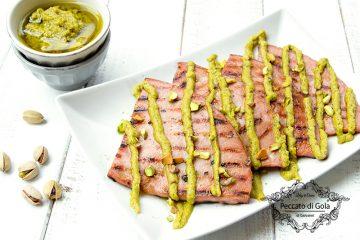 ricetta mortadella grigliata al pesto di pistacchi, peccato di gola di giovanni