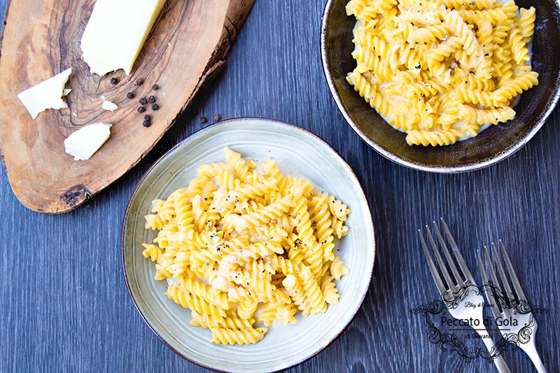 ricetta pasta senza glutine con cacio e pepe cremosa, peccato di gola di giovanni