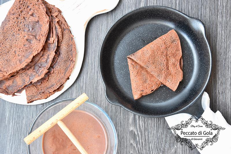 ricetta crepes al cacao, peccato di gola di giovanni