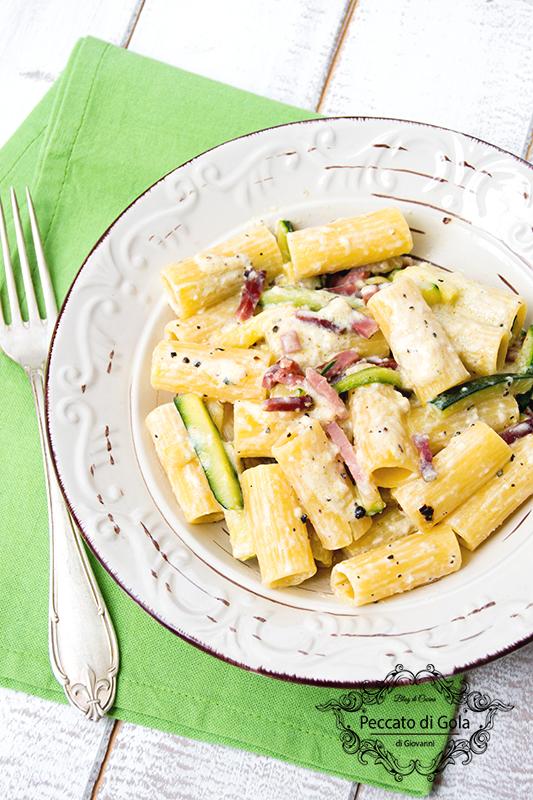 ricetta pasta con zucchine e speck, peccato di gola di giovanni 2