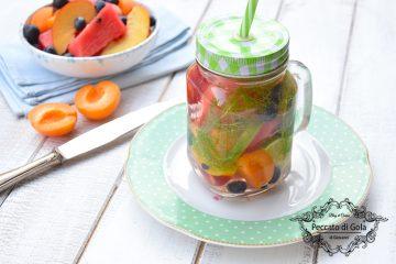 ricetta acqua aromatizzata alla frutta, peccato di gola di giovanni