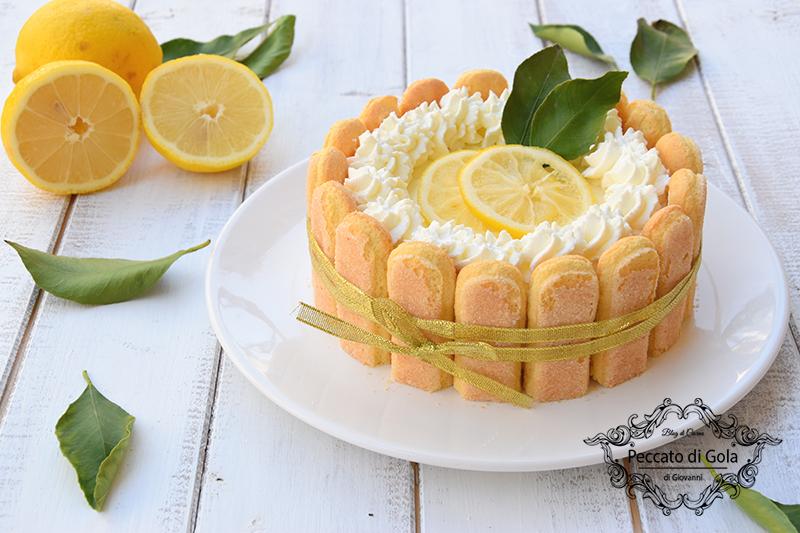 ricetta charlotte al limone, peccato di gola di giovanni