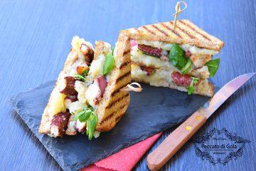 ricetta club sandwich con polpo e patate, peccato di gola di giovanni