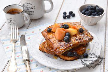 ricetta french toast alle pesche, peccato di gola di giovanni