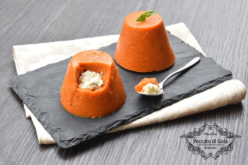 ricetta mini bavaresi al peperone e robiola, peccato di gola di giovanni
