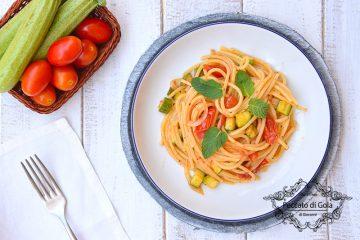 ricetta spaghetti con zucchine e pomodorini, peccato di gola di giovanni