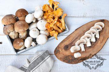 ricetta come pulire i funghi, peccato di gola di giovanni
