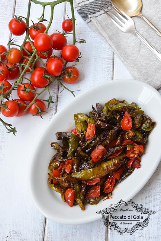 ricetta peperoncini verdi al pomodoro, peccato di gola di giovanni 2