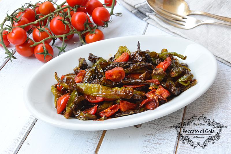 ricetta peperoncini verdi al pomodoro, peccato di gola di giovanni