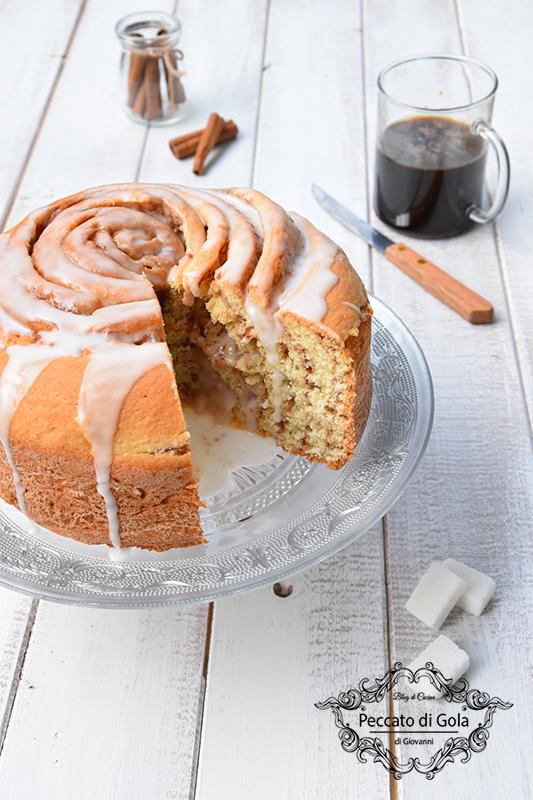 ricetta cinnamon roll cake, peccato di gola di giovanni 2