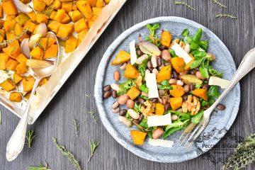 ricetta insalata di fagioli misti e zucca, peccato di gola di giovanni