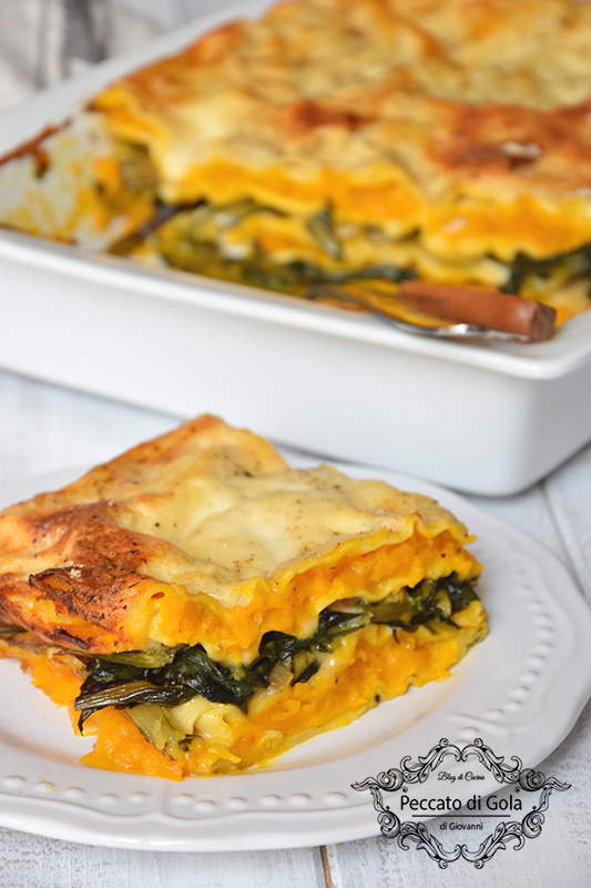 ricetta lasagne di zucca e cicoria, peccato di gola di giovanni 2