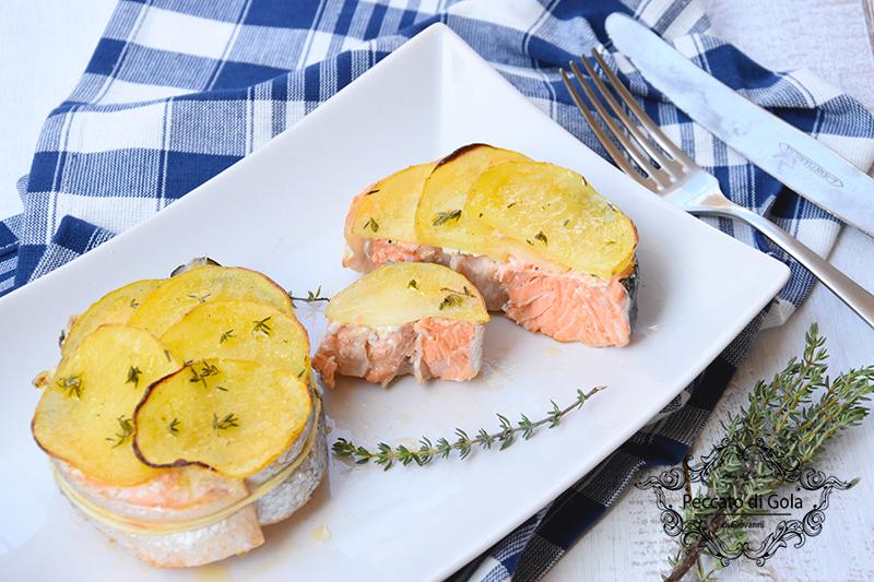 ricetta salmone al forno, peccato di gola di giovanni