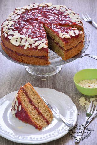 ricetta torta al grano saraceno e confettura di mirtilli rossi 2