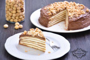 ricetta torta di crepes nutella e mascarpone peccato di gola di giovanni