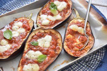 ricetta melanzane al forno ripiene con mozzarella e pomodoro peccato di gola di giovanni