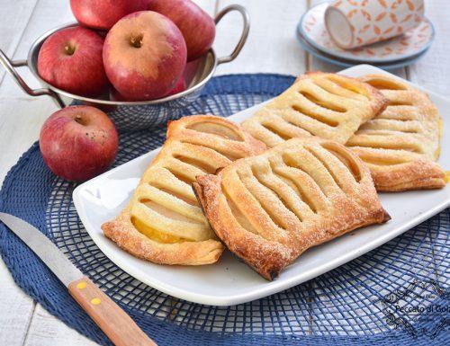 Sfogliatine di mele e crema