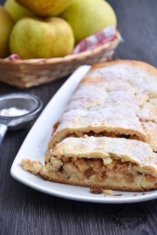 ricetta strudel di mele con pasta frolla peccato di gola di giovanni castaldi 2