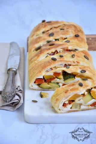 ricetta strudel di verdure veloce peccato di gola di giovanni castaldi 2