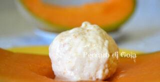 gelato al melone cantalupo, peccato di gola