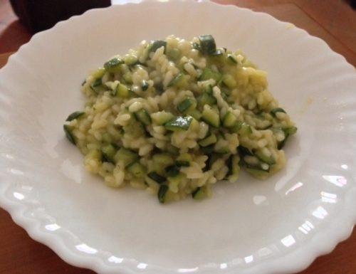 Risotto alle zucchine con curry