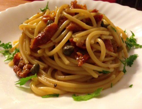 Spaghetti risottati con pomodorini secchi