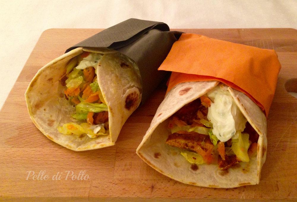 Piadine messicane con pollo e verdure