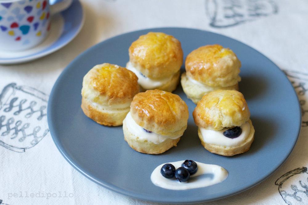 scones dolci crema mirtilli