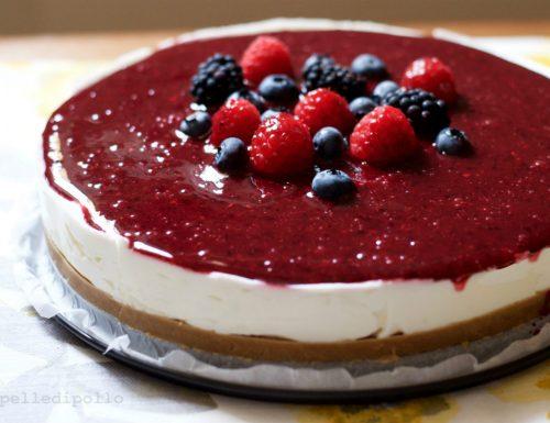 Cheesecake senza cottura al lime e frutti di bosco