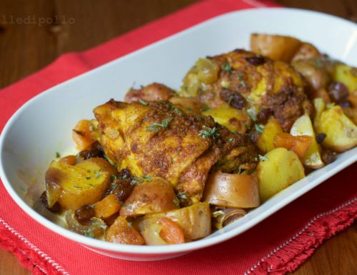 Pollo alla marocchina speziato al forno