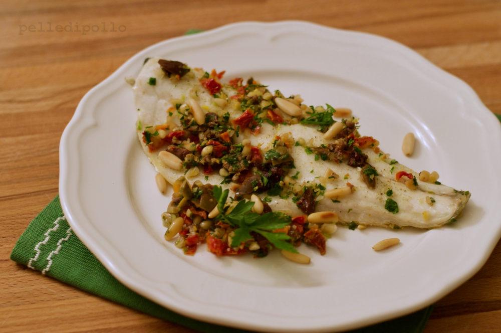 filetto di branzino alle olive taggiasche