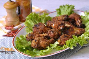 Alette di pollo al forno croccanti e speziate