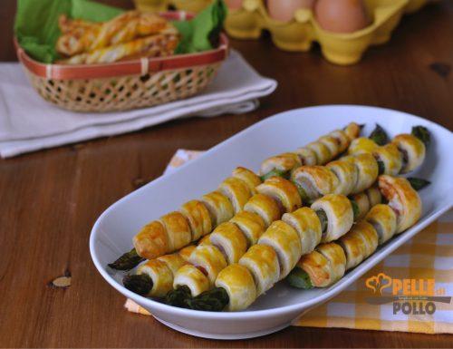 Asparagi in pasta sfoglia con pancetta