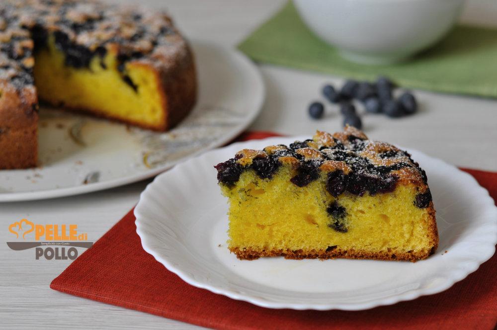 torta ai mirtilli e mascarpone