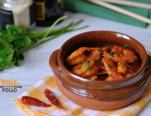Gamberoni in salsa piccante