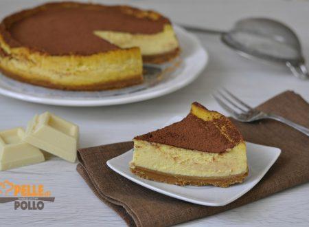 Cheesecake al cioccolato bianco e panna acida