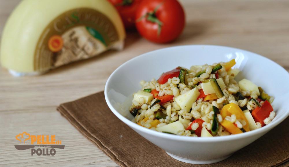 orzo con verdure e caciotta