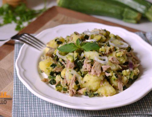 Insalata di tonno con patate e zucchine