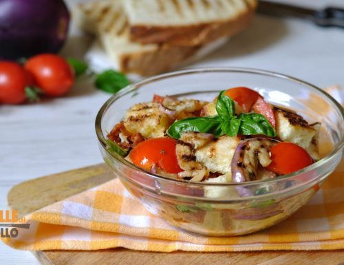 Panzanella di melanzane e pomodori